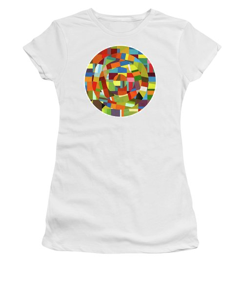 Women's T-Shirt (Athletic Fit) featuring the painting Full Tilt by Michelle Calkins