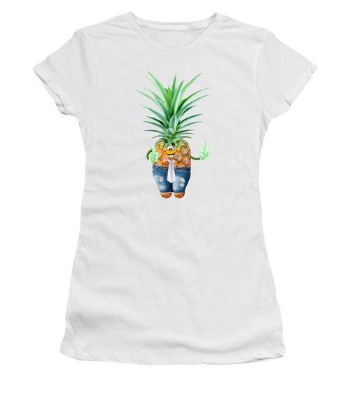 Fun Pineapple  Women's T-Shirt (Junior Cut) by Elena Nikolaeva