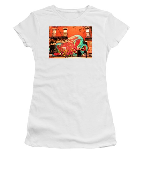 Funky Brooklyn Fire Escape  Women's T-Shirt (Athletic Fit)