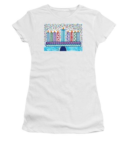 Funky Menorah  Women's T-Shirt