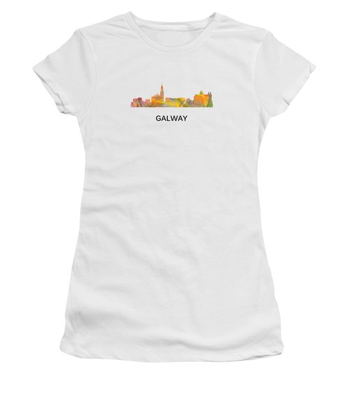 Galway Ireland Skyline Women's T-Shirt (Athletic Fit)