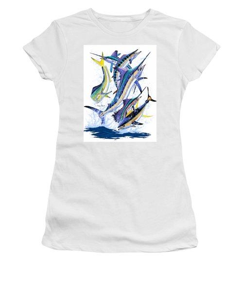 Gamefish Digital Women's T-Shirt (Junior Cut) by Carey Chen