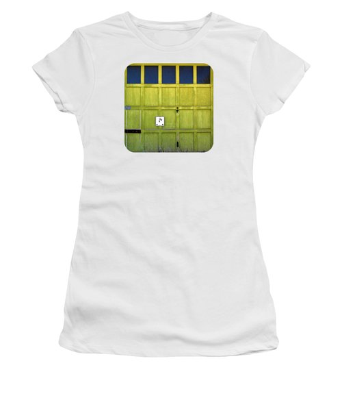 Women's T-Shirt (Junior Cut) featuring the photograph Garage Door by Ethna Gillespie