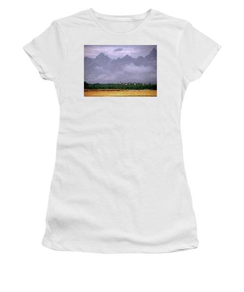 Geese, Grand Tetons Women's T-Shirt