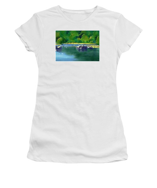 Geese On The Rappahannock Women's T-Shirt (Athletic Fit)