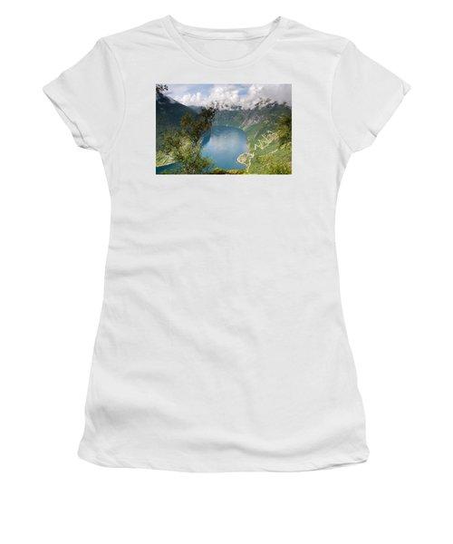 Geirangerfjord With Birch Women's T-Shirt