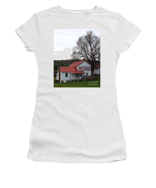 Women's T-Shirt (Junior Cut) featuring the photograph General Store by Eric Liller