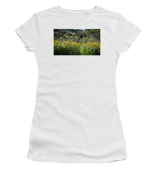 Women's T-Shirt (Junior Cut) featuring the photograph Gently Swaying In The Wind  by Saija Lehtonen