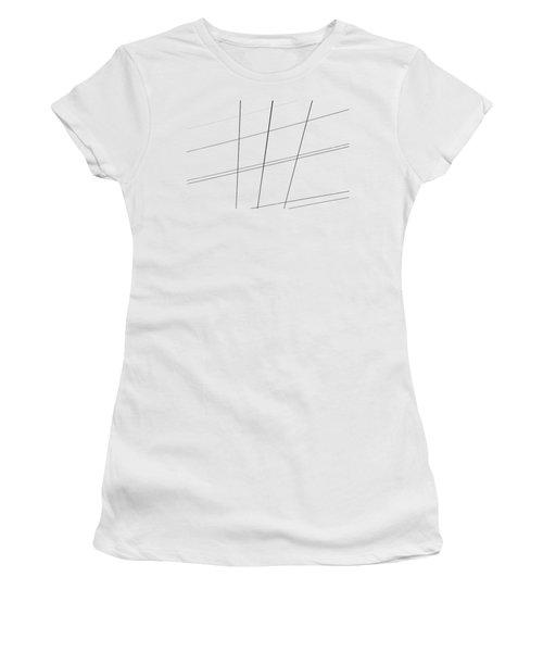 Geometric Lines Women's T-Shirt (Junior Cut) by Debbie Oppermann