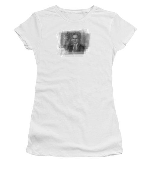 George H. W. Bush Women's T-Shirt (Junior Cut) by Steve Socha