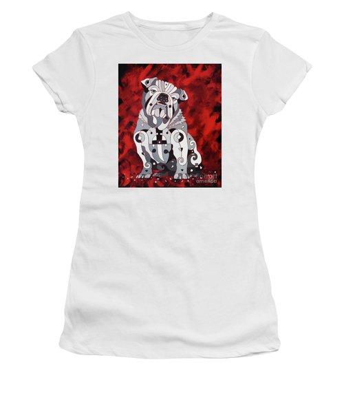 Georgia Bull Dog Women's T-Shirt (Athletic Fit)
