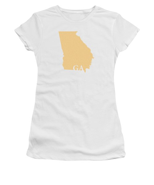 Georgia State Map With Text Of Constitution Women's T-Shirt