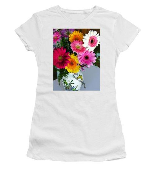 Gerbera Daisy Bouquet Women's T-Shirt (Athletic Fit)