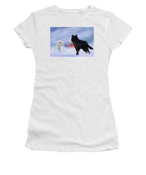Geri And Freki Women's T-Shirt (Athletic Fit)