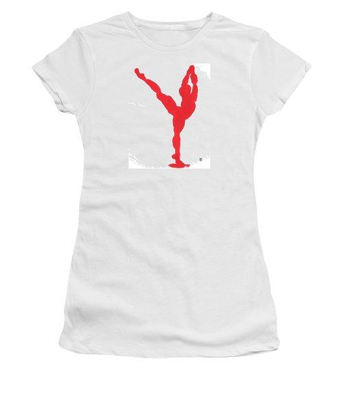 Gesture Brush Red 1 Women's T-Shirt (Junior Cut) by Shungaboy X