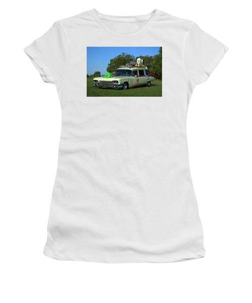 1959 Cadillac Ghostbusters Ambulance Replica Women's T-Shirt