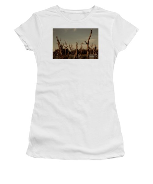 Ghostly Trees Women's T-Shirt (Junior Cut) by Douglas Barnard