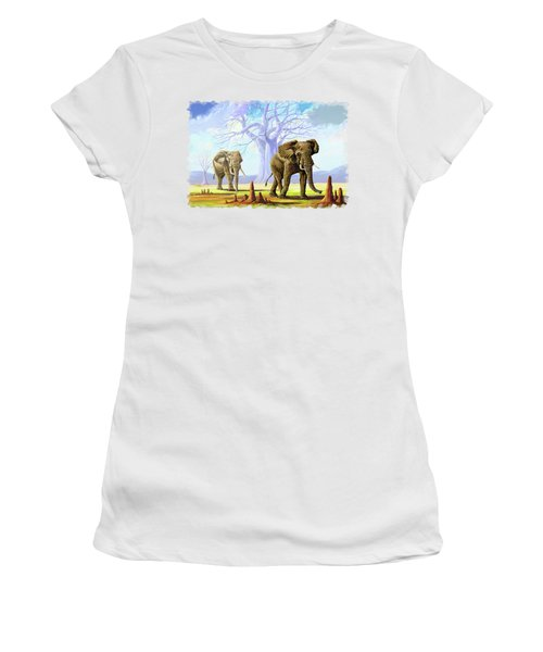 Giants And Little People Women's T-Shirt (Athletic Fit)