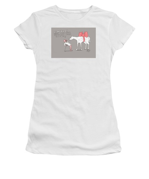 Gift Horse Women's T-Shirt (Athletic Fit)