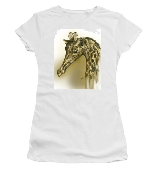 Giraffe Contemplation Women's T-Shirt (Athletic Fit)