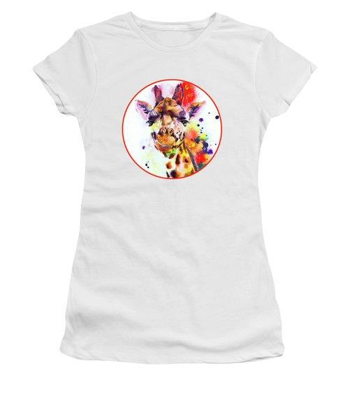 Giraffe Women's T-Shirt (Junior Cut) by Isabel Salvador