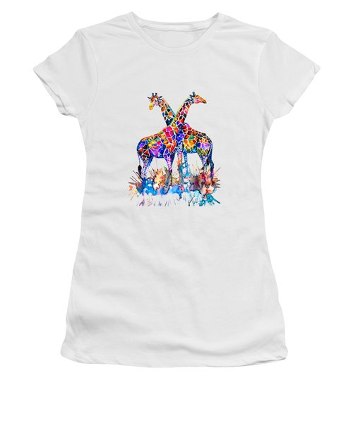 Giraffes Women's T-Shirt (Athletic Fit)