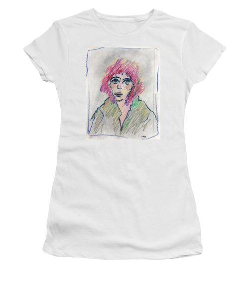 Girl With Pink Hair  Women's T-Shirt (Athletic Fit)