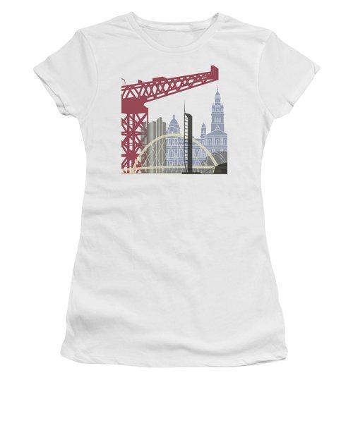 Glasgow Skyline Poster Women's T-Shirt