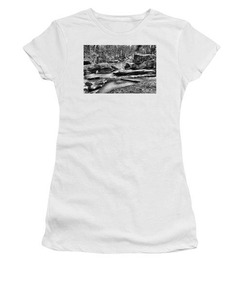 Women's T-Shirt (Junior Cut) featuring the digital art Glow Water by Greg Sharpe