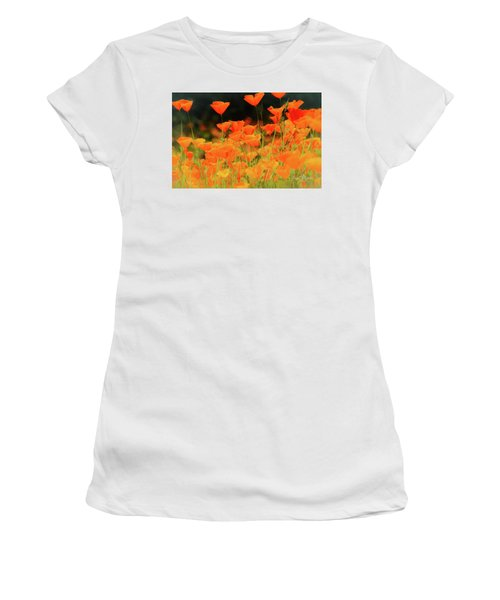 Glowing Poppies Women's T-Shirt (Athletic Fit)