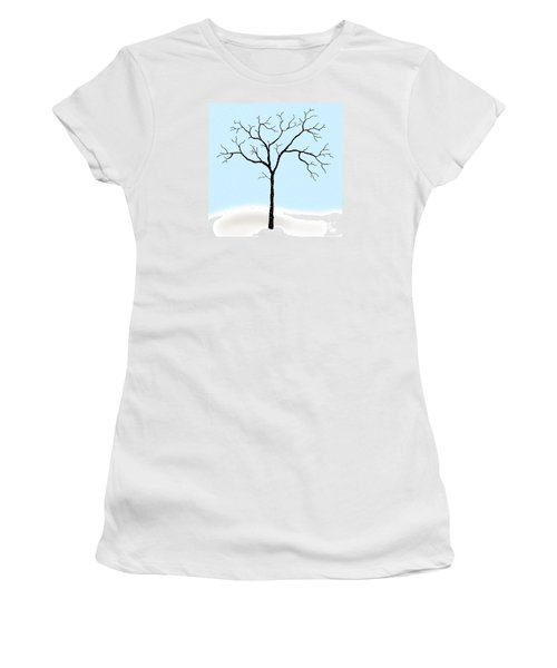 Gnarled In Winter Women's T-Shirt (Athletic Fit)