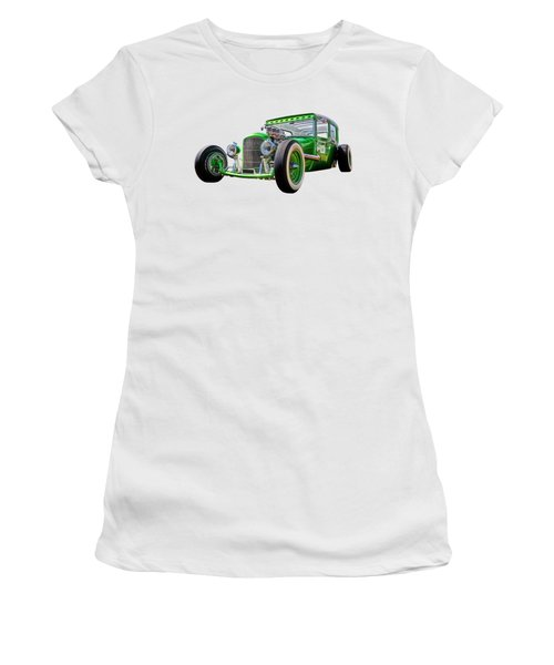 Go Faster Green - Vintage Hot Rod Women's T-Shirt