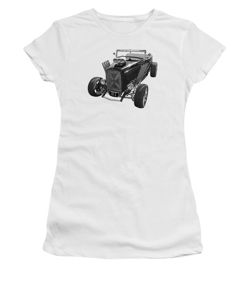 Go Hot Rod In Black And White Women's T-Shirt