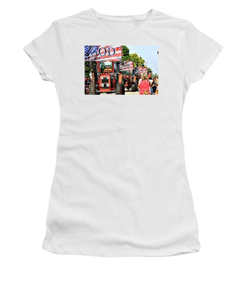 God Bless America And Farmers Women's T-Shirt (Athletic Fit)