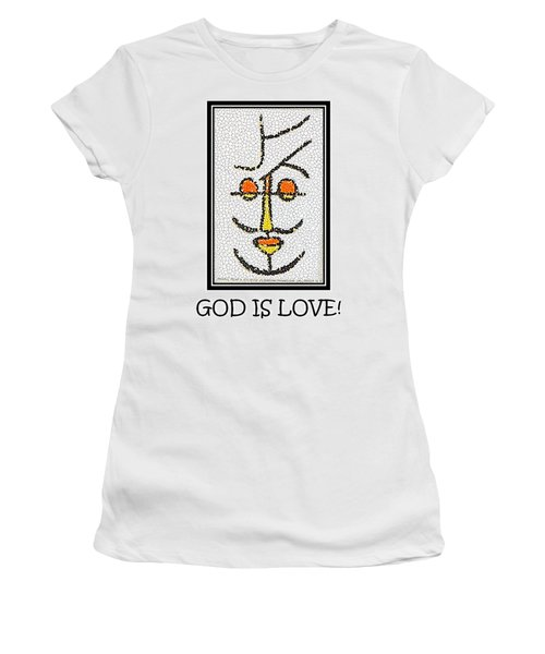 God Is Love Women's T-Shirt (Athletic Fit)