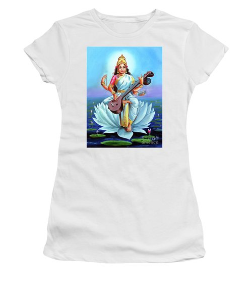 Goddess Of Wisdom And Knowledge Women's T-Shirt (Athletic Fit)