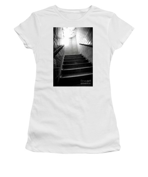 Going Up? Women's T-Shirt (Junior Cut) by Randall Cogle