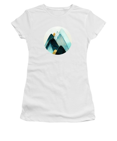 Gold And Blue Hills Women's T-Shirt