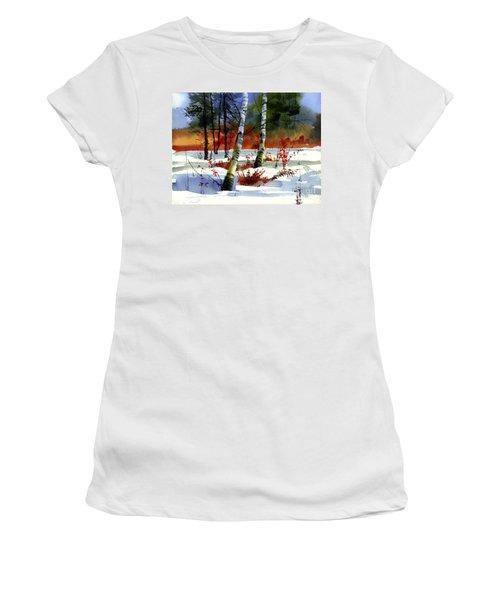 Gold Bushes Watercolor Women's T-Shirt