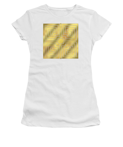 Gold Geo 4 - Chuck Staley Design  Women's T-Shirt (Athletic Fit)