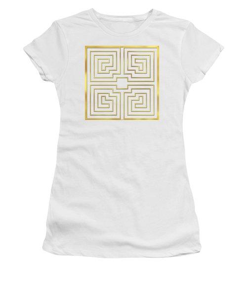 Gold Stripes Transparent Women's T-Shirt (Athletic Fit)