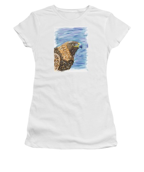 Women's T-Shirt (Junior Cut) featuring the painting Golden Eagle by Scott Wilmot
