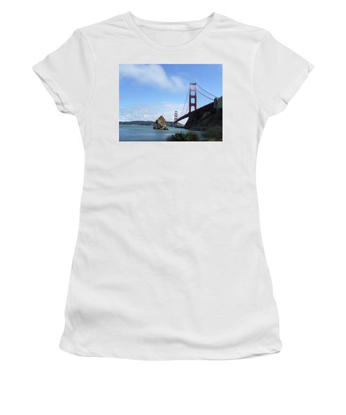 Golden Gate Bridge Women's T-Shirt (Junior Cut) by Sumoflam Photography