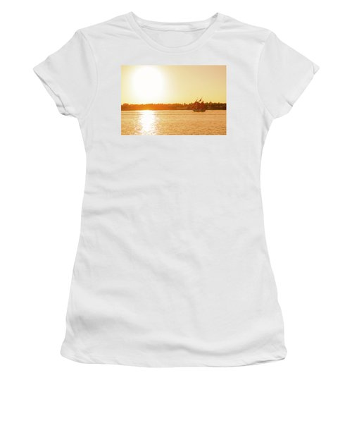 Golden Hour Sailing Ship Women's T-Shirt