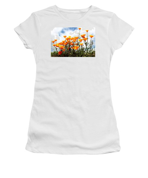 Golden Poppies Women's T-Shirt (Athletic Fit)