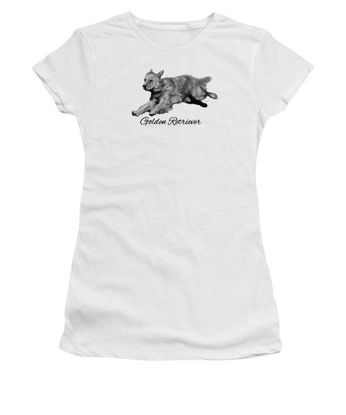 Golden Retriever Women's T-Shirt (Junior Cut) by Ann Lauwers