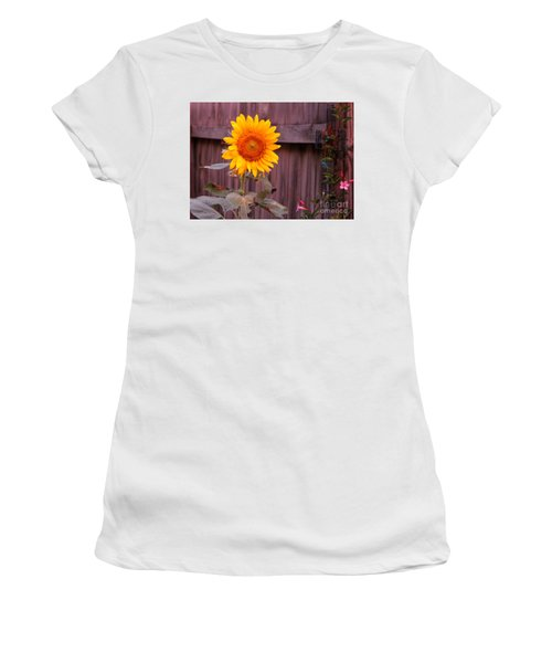 Golden Sunflower Women's T-Shirt (Athletic Fit)