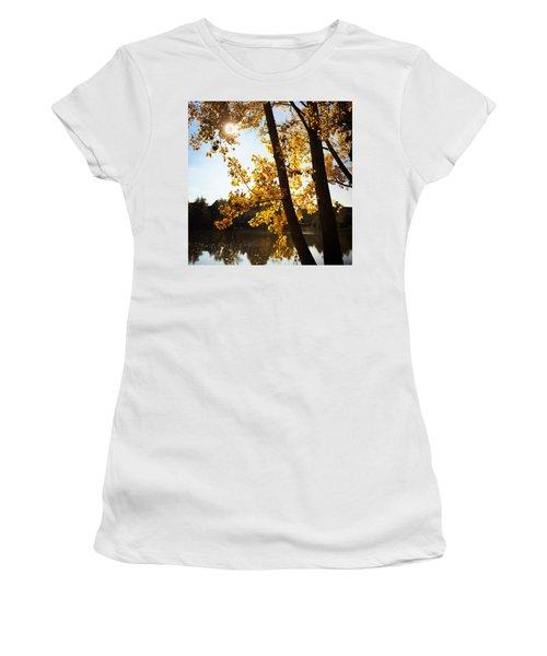 Golden Trees In Autumn Sindelfingen Germany Women's T-Shirt