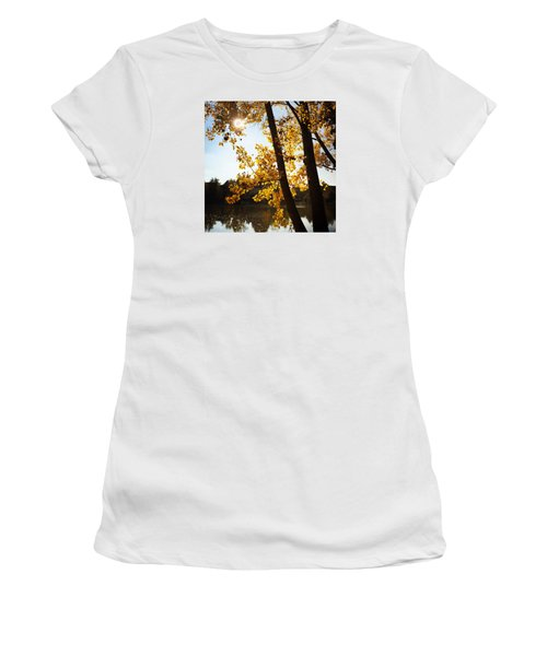 Golden Trees In Autumn Sindelfingen Germany Women's T-Shirt (Athletic Fit)