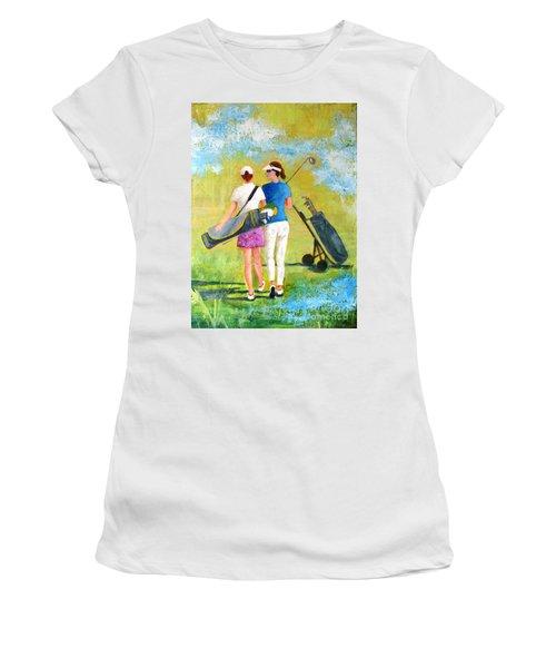 Golf Buddies #1 Women's T-Shirt (Junior Cut) by Betty M M Wong